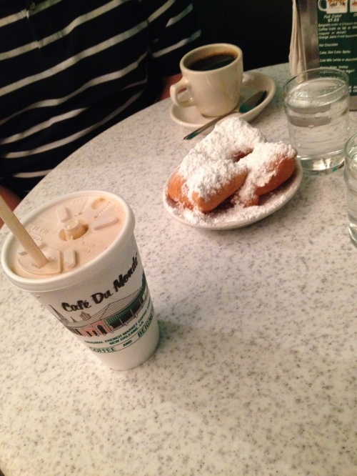 Cafe du Monde. We went in the early evening, so we beat the crowd and it was so delicious and relaxing!