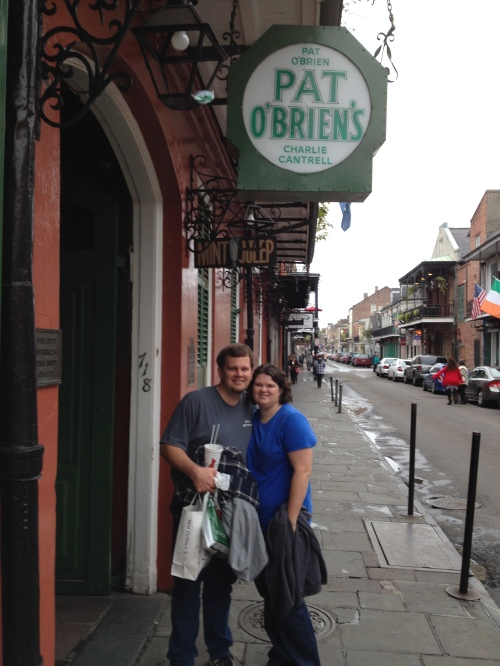 On our last morning we explored the French Quarter and had hurricanes at Pat O'Brien's.