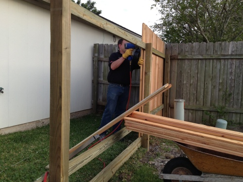 New fence going up!